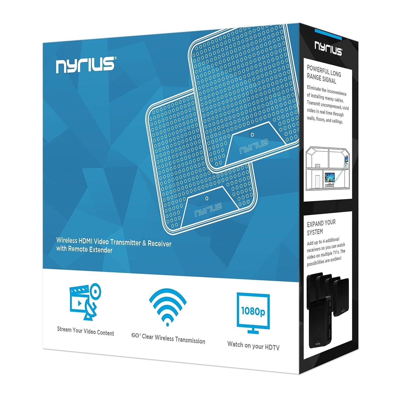 Amazon.com: Nyrius Wireless HDMI Video Transmitter & Receiver System ...