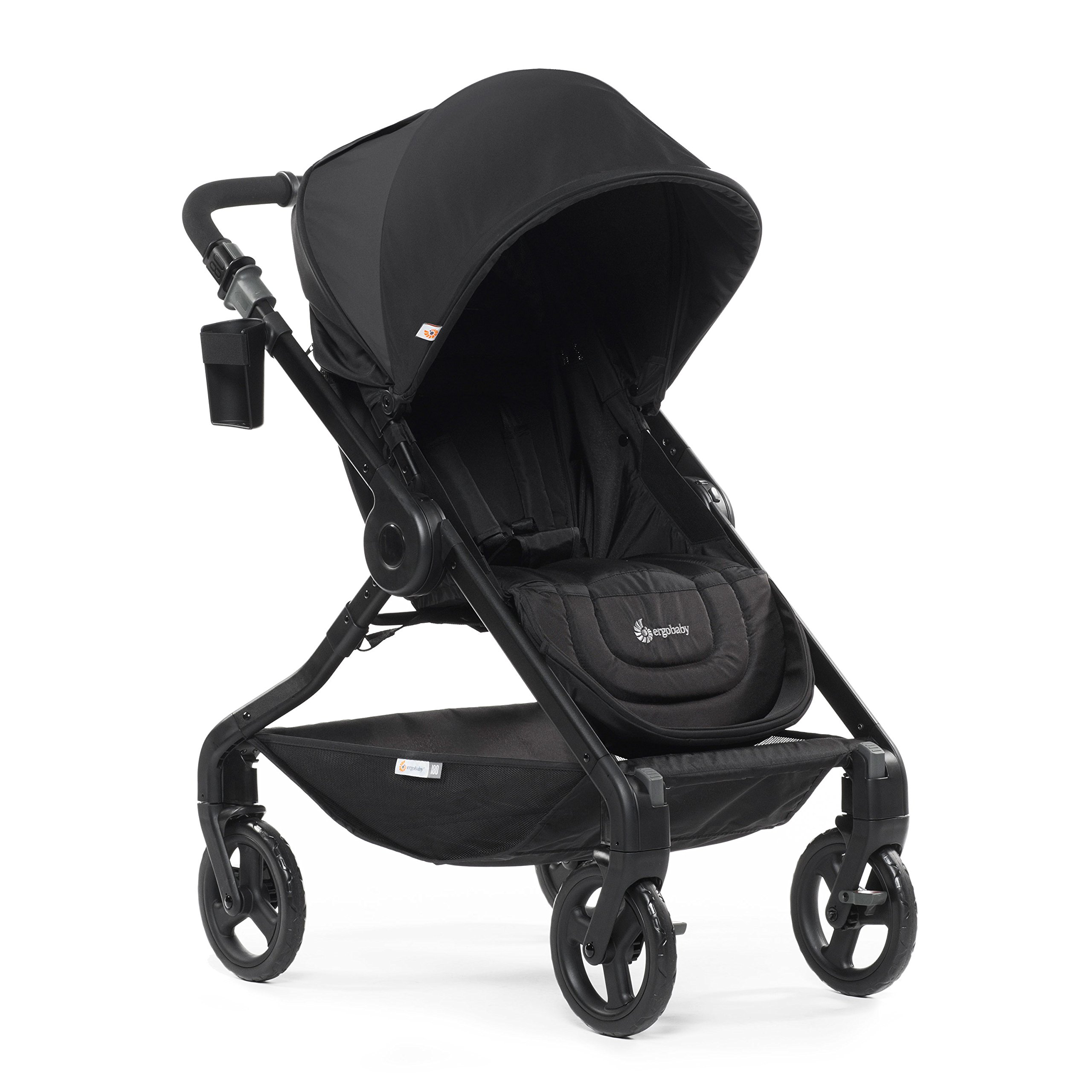 Ergobaby Stroller, Travel System Ready, 180 Reversible with One-Hand Fold, Black by Ergobaby