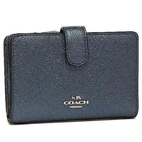 3b2193a3cfbe コーチ 財布 アウトレット COACH F23256 SVLBI ミディアム コーナー ジップ ウォレット レディース 二つ折り財布 無地 メタリック
