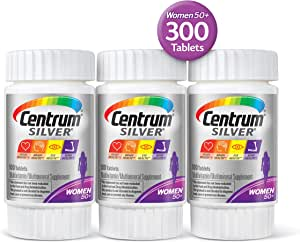 Centrum Silver Women, Multivitamin / Multimineral Supplement Tablet, Vitamin D3, Age 50+, 100 Count, Pack of 3