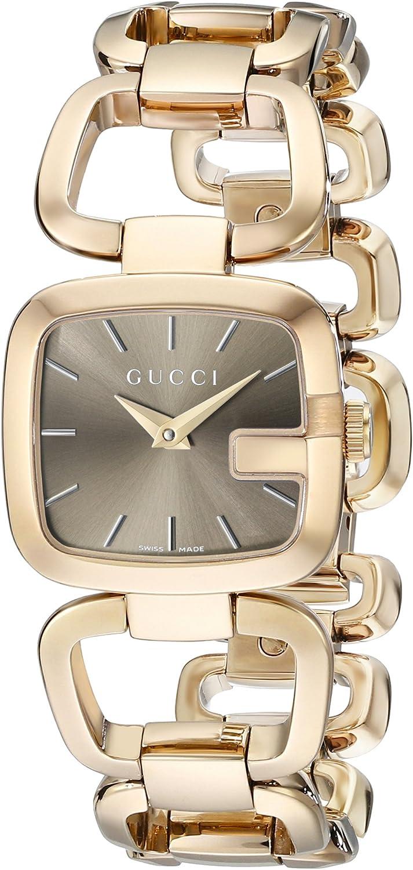Gucci YA125511 - Reloj, con Correa de Acero Inoxidable, de Color marrón