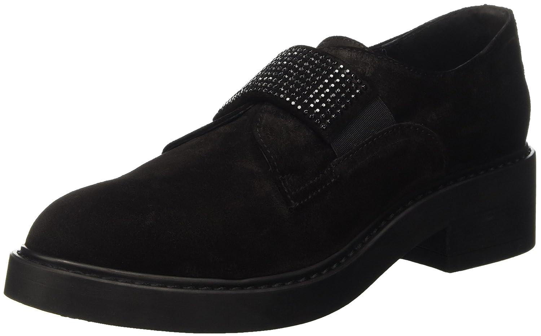 Manas St.Jean, Zapatos de Cordones Derby para Mujer 40 EU|Negro
