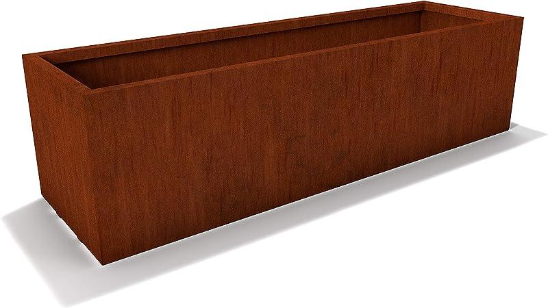 Amazon Com Modern Corten Steel Rectangle Planter Box By Lewis