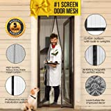 """Magnetic Screen Door with Magnets I Premium Magnet Curtain with Mesh & Mosquito Screens I Bug Net for Doors [Upgraded 2018 Version] up to 39"""" x 82"""" Max"""