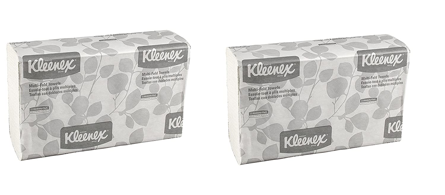 Amazon.com: Kimberly-Clark Professional Kleenex Multifold Paper Towels, White, 9 1/5 x 9 2/5 (150 per pk., 16 pks./carton): Health & Personal Care