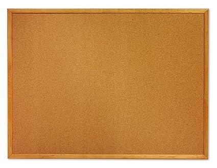 quartet cork bulletin board 2 x 3 feet oak finish frame mwdb2436