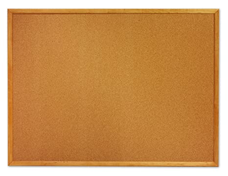 amazon com b00d632ta2 quartet bulletin board cork board 2 ft x