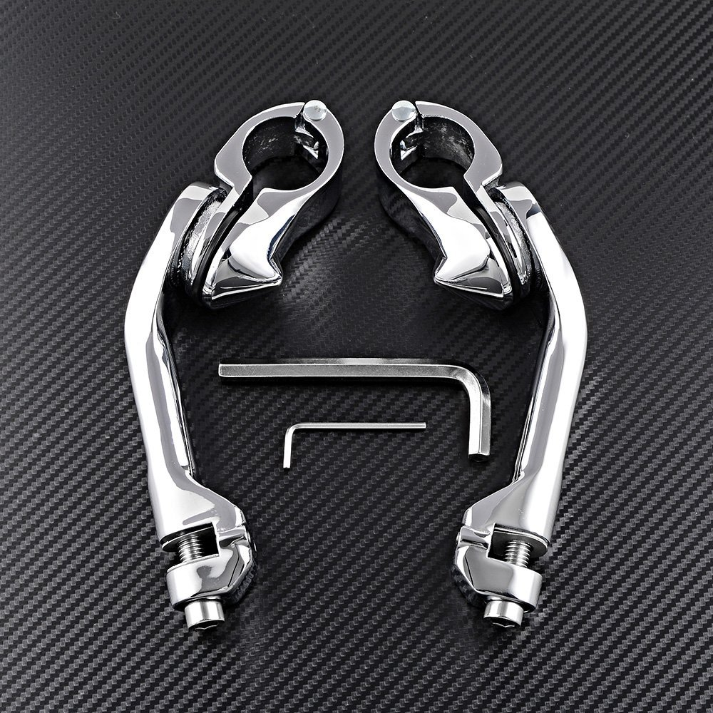 StreamLiner Foot Pegs Set For Harley Touring Left /& Right 1.25 32mm Highway Long Angled Mount
