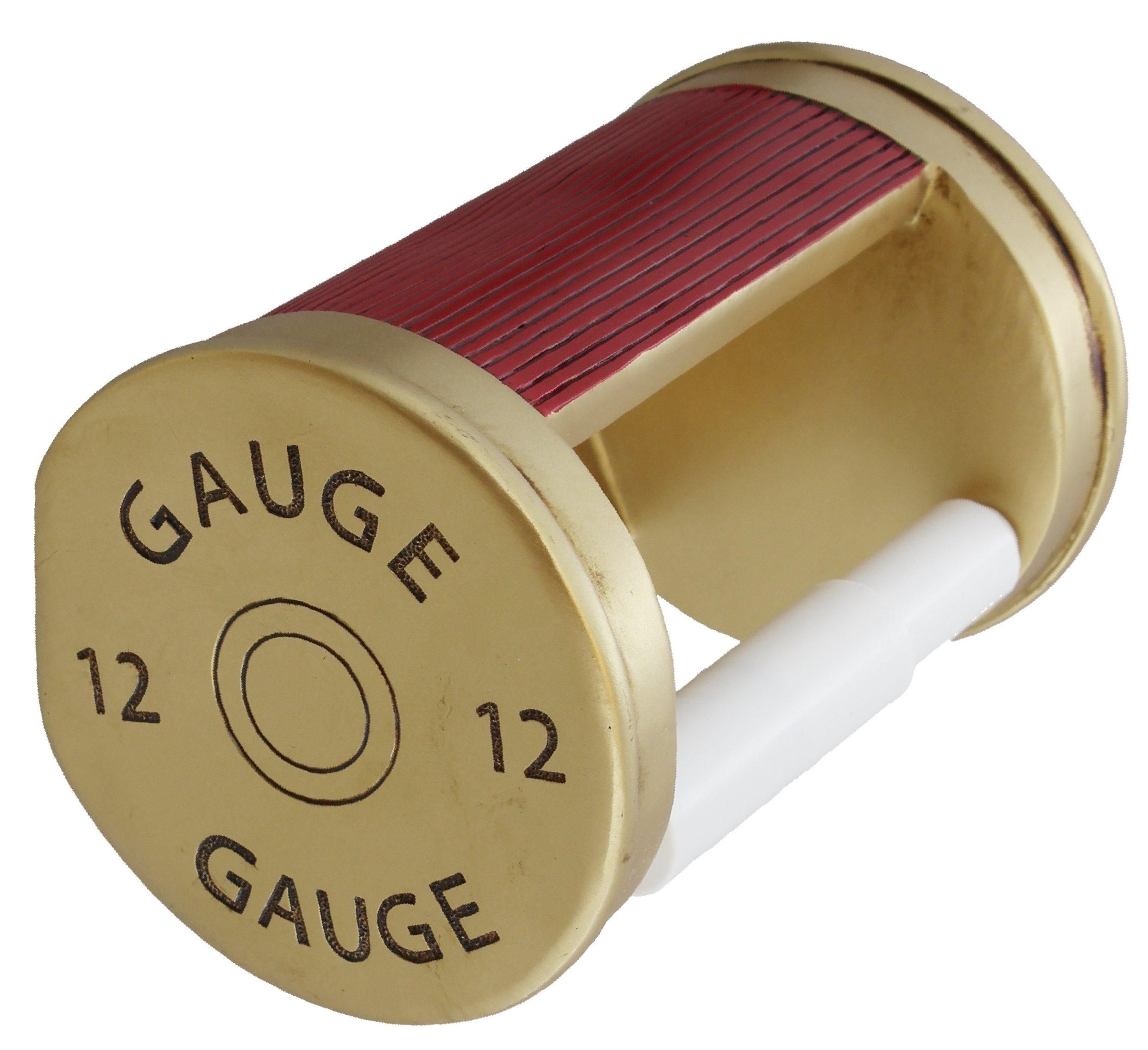 Old River Shotgun Toilet Paper Holder - 12 Gauge Shot Shell Bathroom Decor