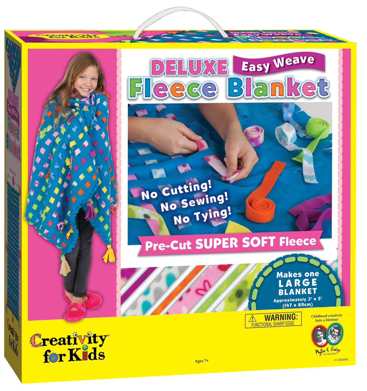 Easy weave fleece blanket making kit