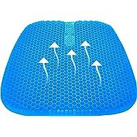 Tomight Gel Seat Cushion, Cool Gel Cushion, Breathable Lumbar Support Chair Cushion Tailbone Back Pain Relief Chair Pad…