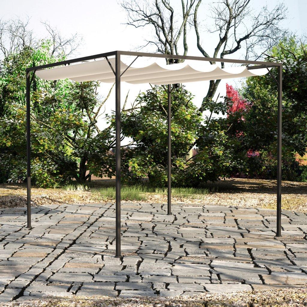 Amazon.com : Anself Garden Pergola Gazebo With Retractable Canopy Shades :  Garden U0026 Outdoor