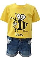 Kids unisex buzzy 'Bee' yellow T.shirt