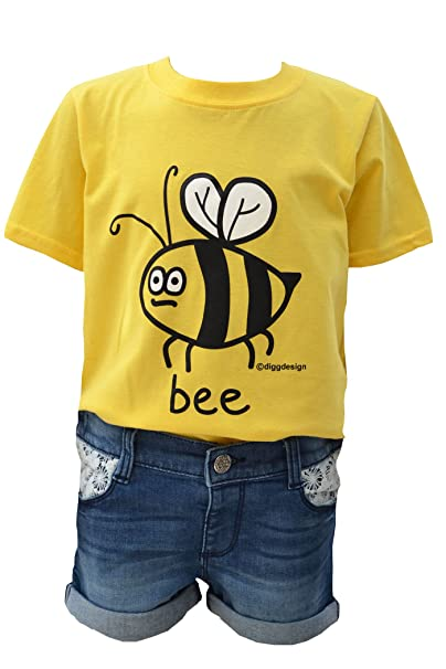 53ae9284f8d Digg design Kids bee T.Shirt  Amazon.co.uk  Clothing