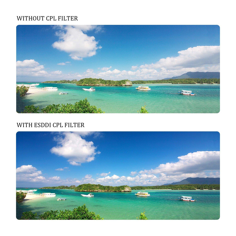 Olympus etc con Revestimiento M/últiple Pentax Sony Nikon Filtro Cicular Polarizador Filtro CPL para Objetivos de Canon ESDDI CPL 67mm