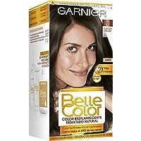 Garnier Belle Color Coloración de aspecto natural y cobertura completa de canas con aceite de germen de trigo - Castaño…