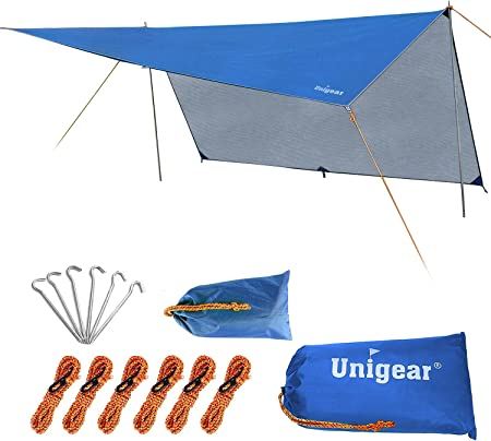 REDCAMP Waterproof Sunshade Tarp Shelter Camping Tent Canopy Hammock Cover Gear