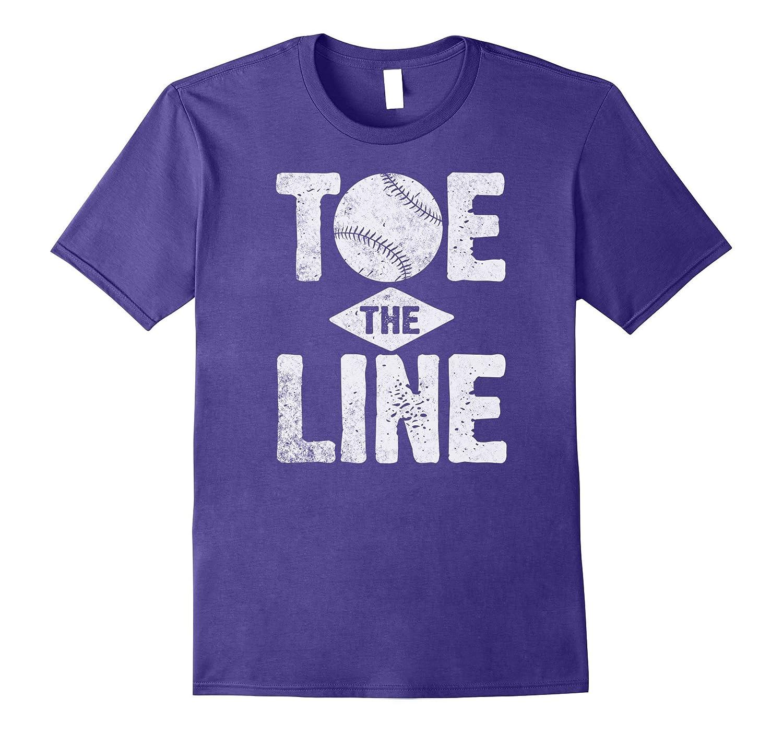 Baseball Shirt Batting Toe The Line Men Women Boys Kids-BN