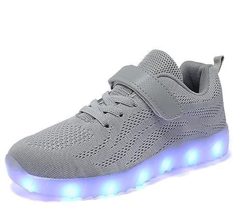 best service e5706 6077a adituob Kinder LED Schuhe - Licht Auf Casual Schuhen Mode Atmungsaktives  Mesh Blinkende Turnschuhe Ausbilder Outdoor Schuhe Für Die Jungen Mädchen