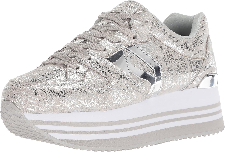 Highrise-Dist Metallic Sneaker