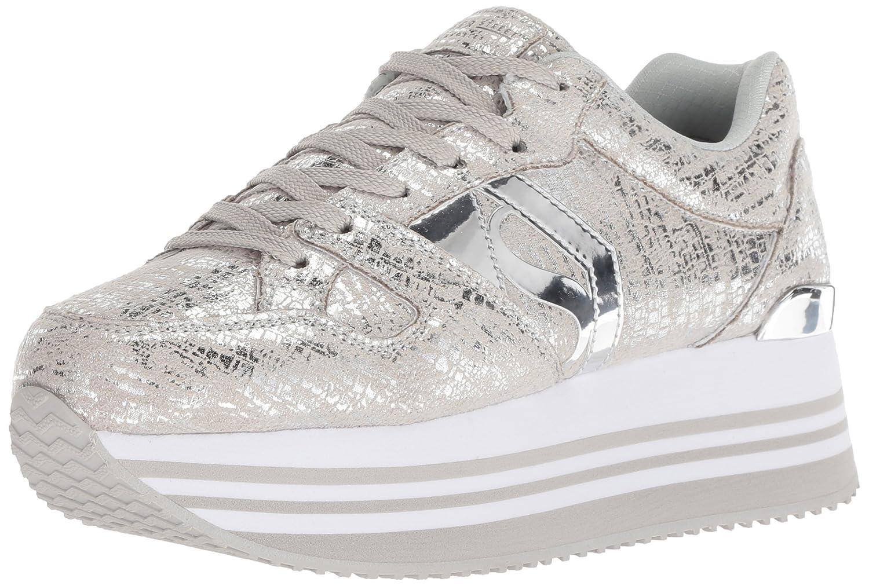 Skechers Women's Highrise-Dist Metallic Sneaker B0787LHGDW 5.5 M US Sil