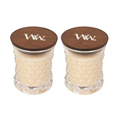 WoodWick Vintage Hobnail Candle Vanilla Bean Pack of 2