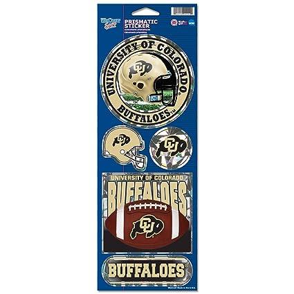 Wincraft NCAA Colorado Buffaloes Prismatic Stickers, Team Color, One Size
