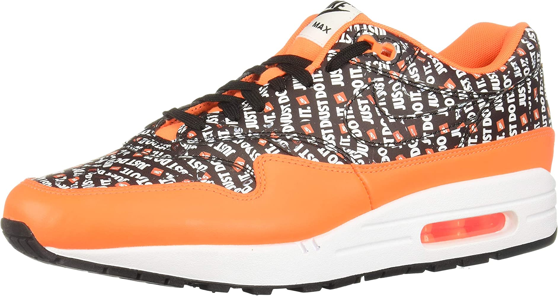 Mens Air Max 1 Premium Fashion Sneaker (BlackTotal Orange White, 9 M US)