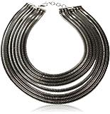 Amrita Singh Le Bernardin Necklace, Silver/Gunmetal