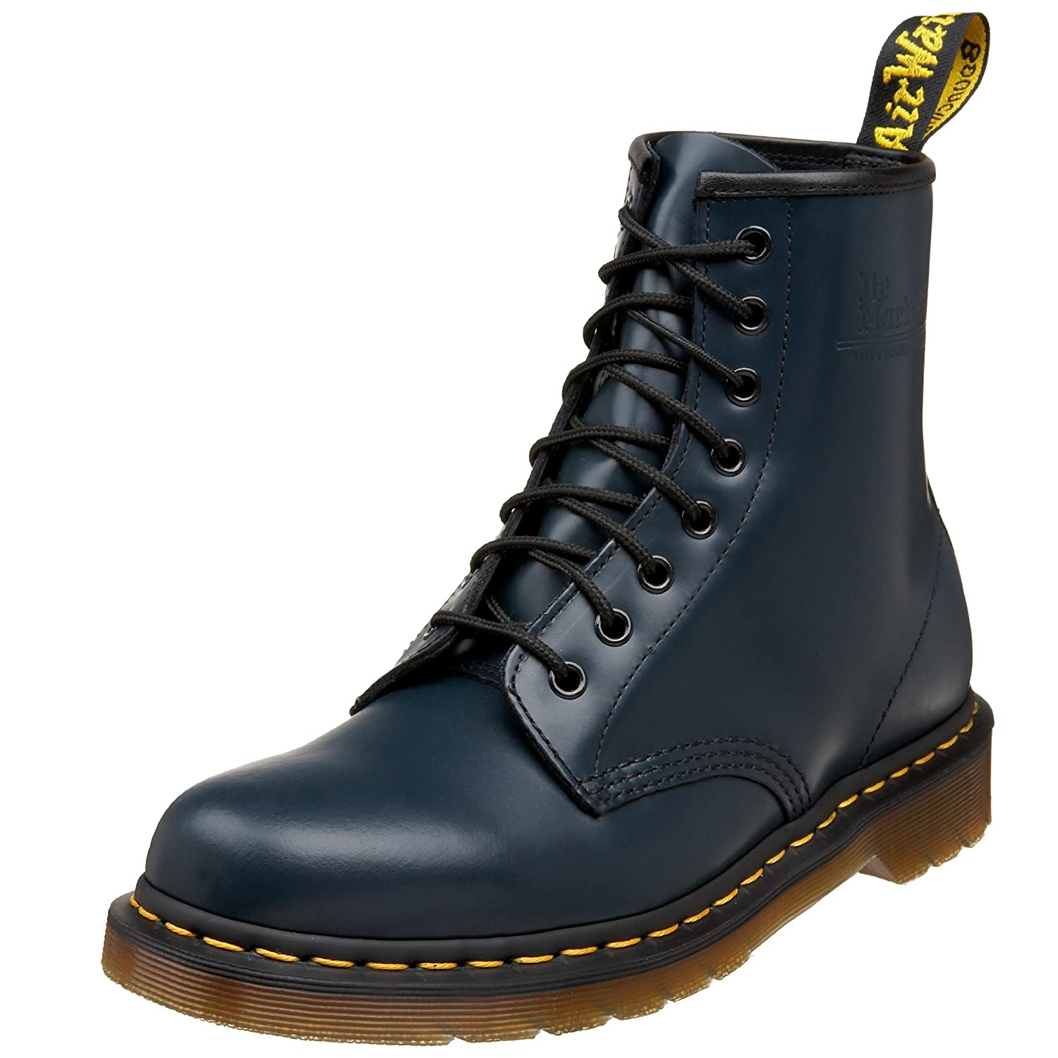 Dr. Martens Men's 1460 Combat Boot, 8.5 B(M) US Women/7.5 D(M) US Men B00178USAG 7 M US/ 5 UK|Navy Smooth Leather