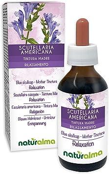 Escutelaria americana o Escutelaria de Virginia (Scutellaria lateriflora) hierba Tintura Madre sin alcohol Naturalma   Extracto líquido gotas 100 ml   ...