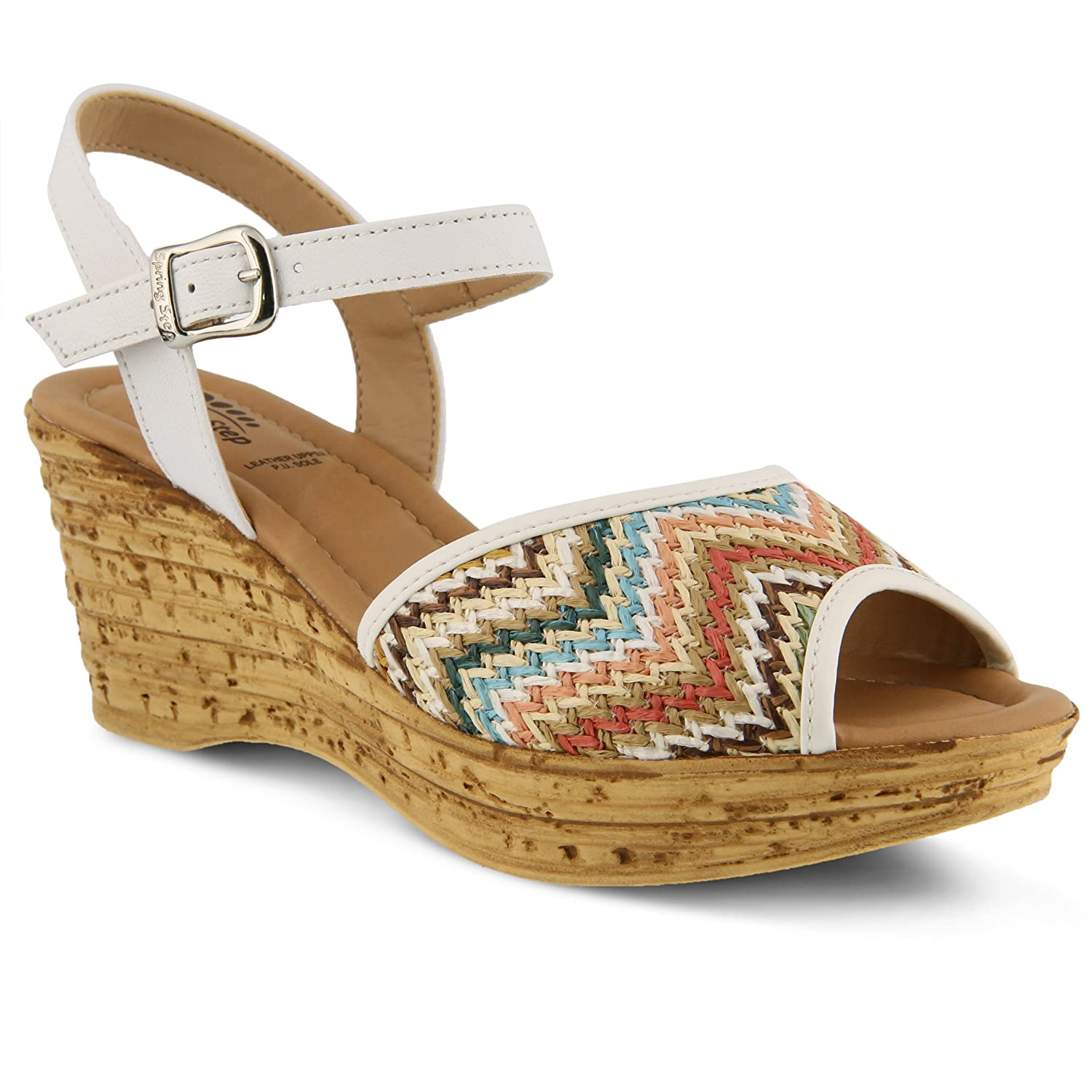 Spring Step Women's Allenisa Wedge Sandal B01MSP57IL 40 M EU (US 9 US)|White Multi