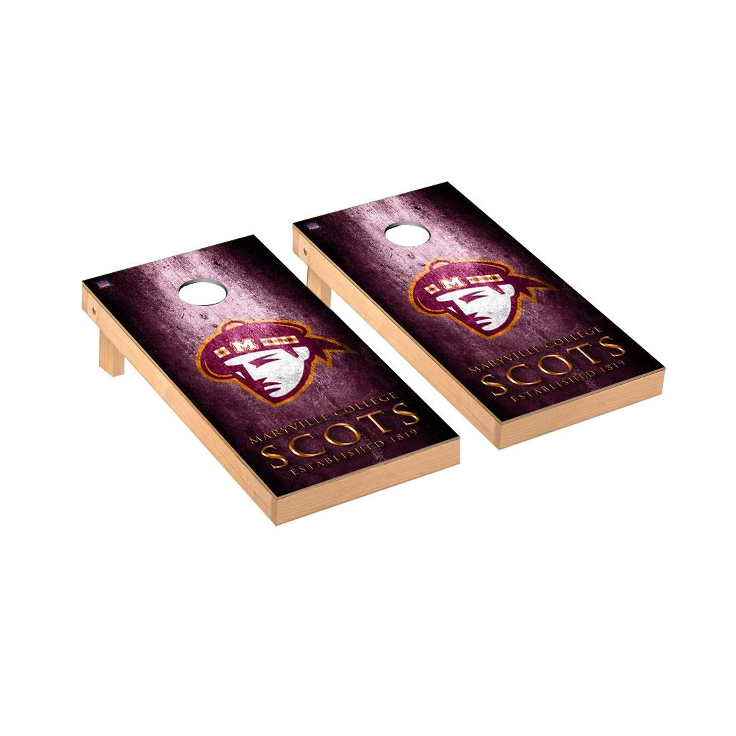 Victory Tailgate Regulation Collegiate NCAA Museum Series Cornhole Board Set - 2 Boards, 8 Bags - Maryville College Scots by Victory Tailgate