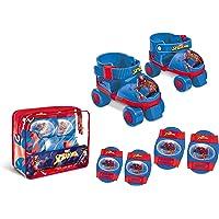 Spiderman Spiderman-18390 Set de Patines Infantiles con Protecciones