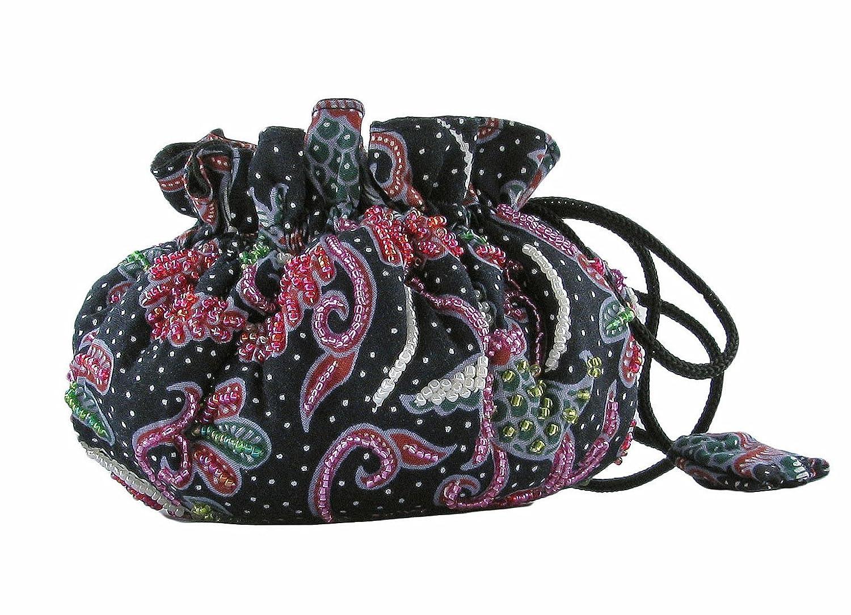 Porta gioielli organizer - Portagioie Da Viaggio - Fatto A Mano (Batik Black) . 3662918002582