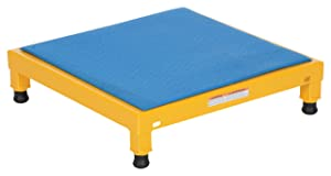 "Vestil AHT-L-2424 Adjustable Work-Mate Stand with Ergo-Matting Deck, Steel, 24"" Length x 24"" Width Deck, 500-lb. Capacity, 6-3/4"" - 8-3/4"""" Height Range"