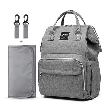 Amazon.com: Bolsa de pañales para bebé, mochila multifunción ...