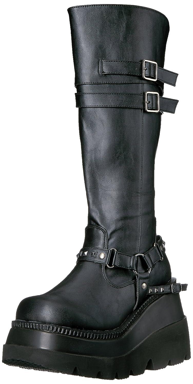 Demonia Women's Sha101/Bvl Boot B017LL2A6M 7 B(M) US|Black Vegan Leather
