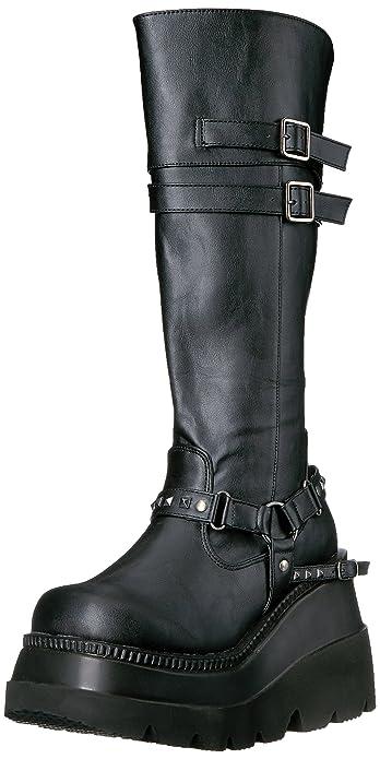 13be14ec7e20e Demonia SHAKER-101 Blk Vegan Leather UK 3 (EU 36): Amazon.fr ...