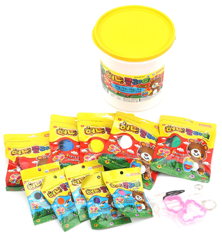Donerland Honey Clay Honey Pack Set (50g x 5 Colors + 10g 5 Colors)