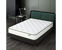 Queen Size Mattress 10 Inch Memory Foam Mattress Crystli Hybrid Bed Mattress with Wrapped Innersprings CertiPUR-US Certified