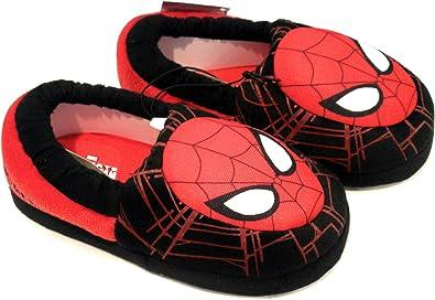 Marvel Spiderman Boys Aline Slippers Slip On Slippers Black