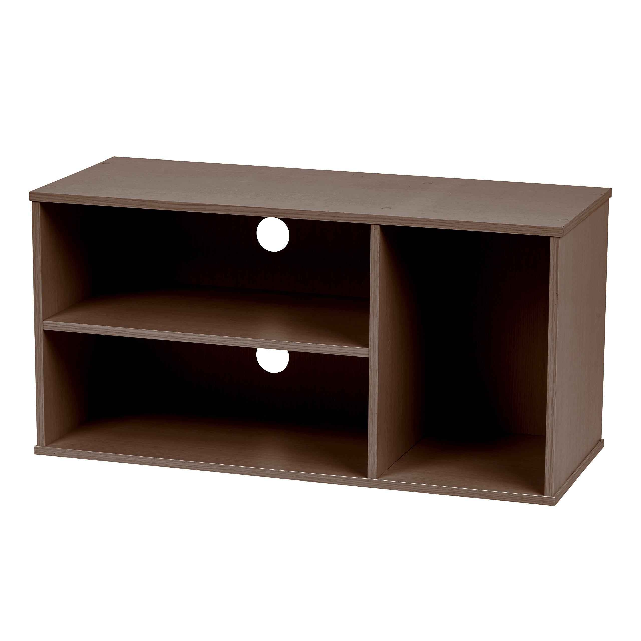 IRIS USA, MDB-3SBO, Modular TV Stand Box, Brown Oak, 1 Pack