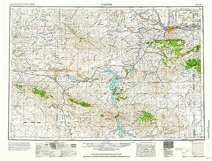 Amazon.com : YellowMaps Casper WY topo map, 1:250000 Scale ... on wyo map, colorado map, casper fox, casper airport, casper mansion, casper wy, casper college, grand teton national park map, laramie us map, casper planetarium, casper events center, casper poil, asheville nc map, wy map, united states map, montana map,