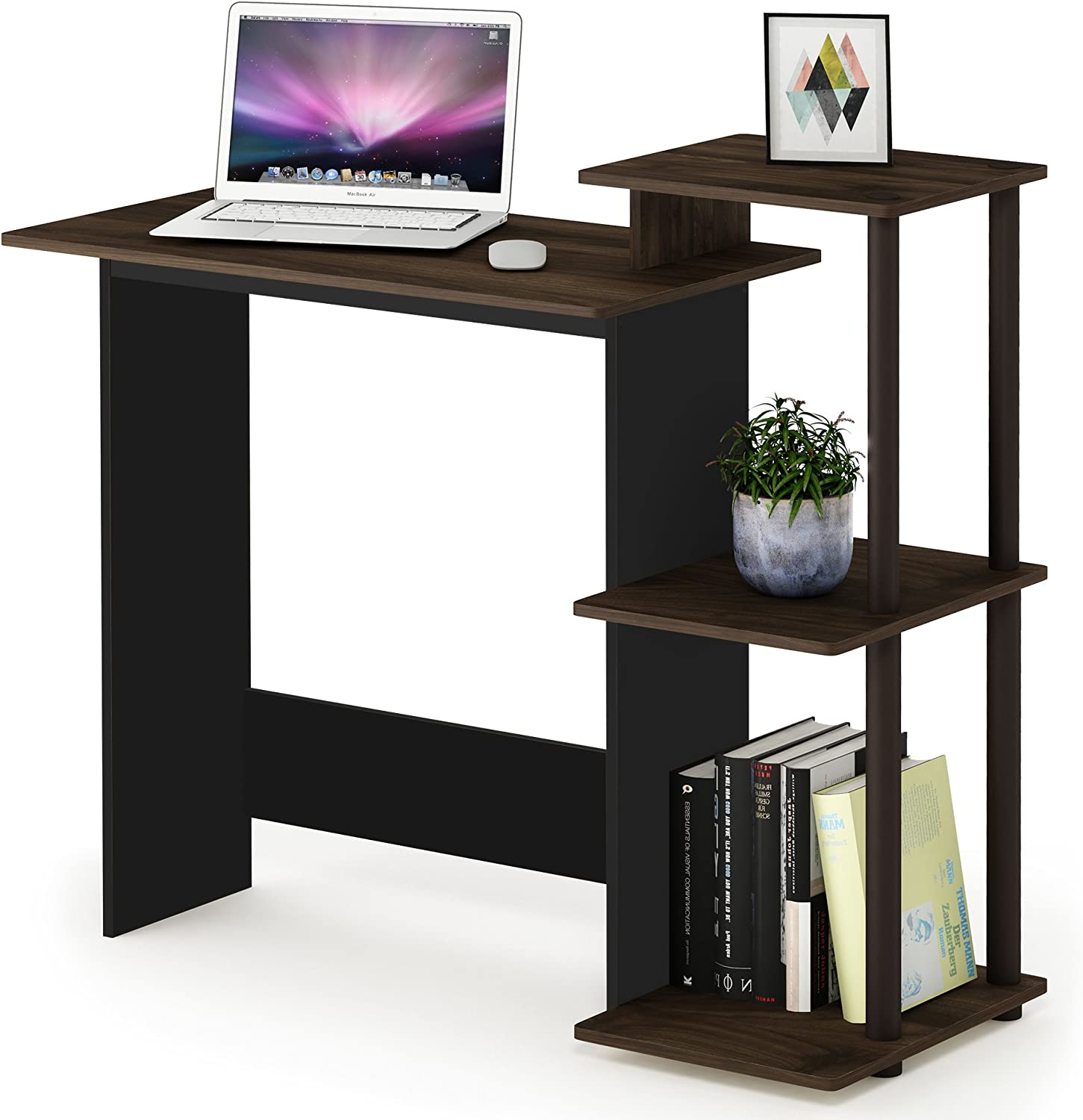 - Furinno Computer Desks, Wood, Columbia Walnut/Brown, One Size