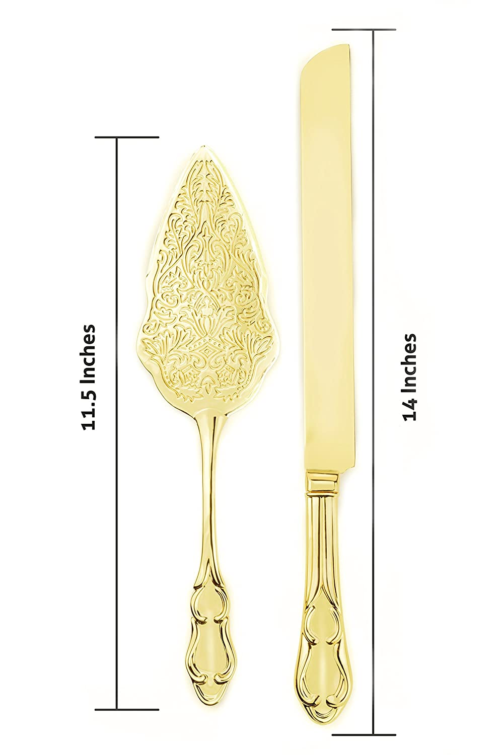 Amazon.com | Strova Gold Wedding Cake Knife and Server Set | Vintage ...