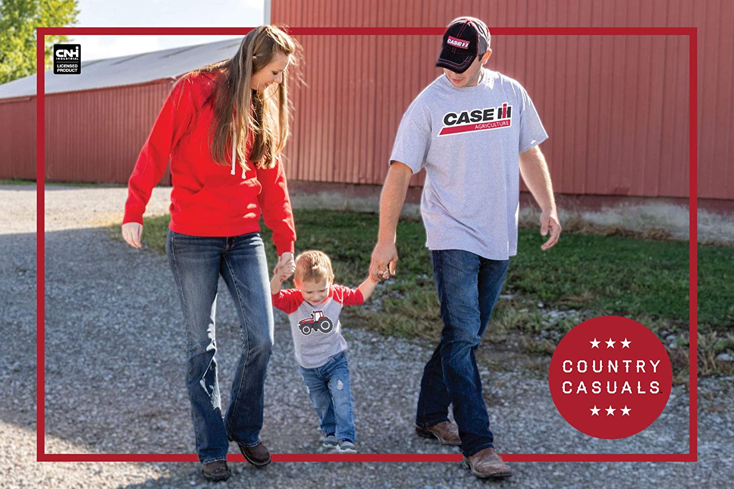 Toddler Long Sleeve Tee Country Casuals Farmall Grill Distressed