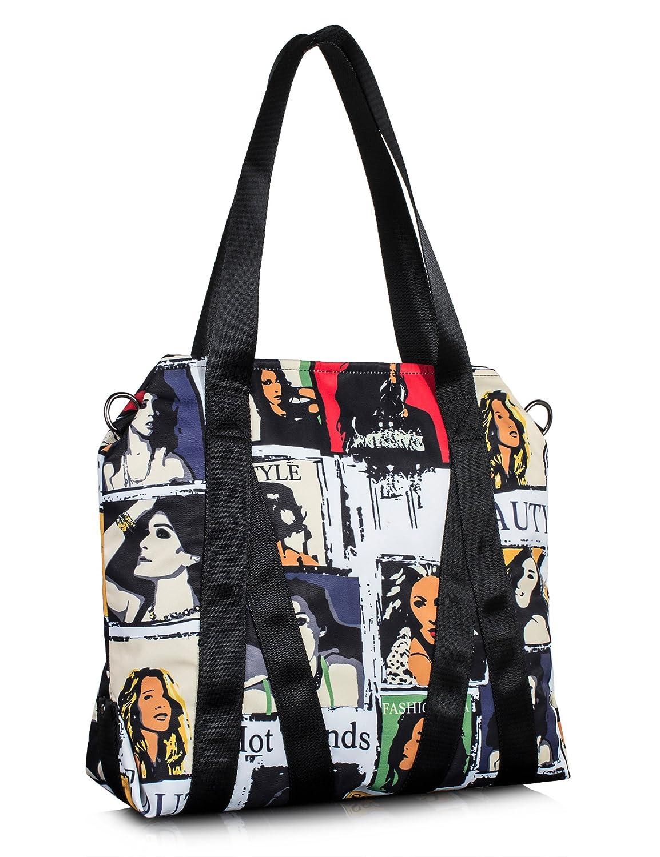 Leaper Water-Resistant Tote Bag for Women Handbag Beach Bag Single Shoulder Bag (Gray) Fifth Season BP4926