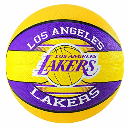 Spalding Ballon NBA Team Ball Los Angeles Lakers: Amazon.es ...