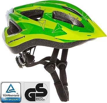 Ultrasport Casco LED de ciclismo para niños, protección óptima ...